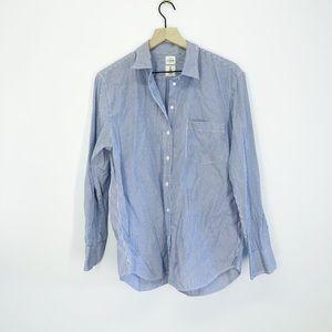 J. Crew Striped Button Down Cotton Shirt